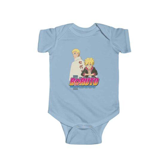 Father and Son Naruto Boruto Uzumaki Stylish Baby Onesie