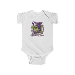 Young Wild & Free Gorilla Smoking Marijuana Cool Baby Clothes