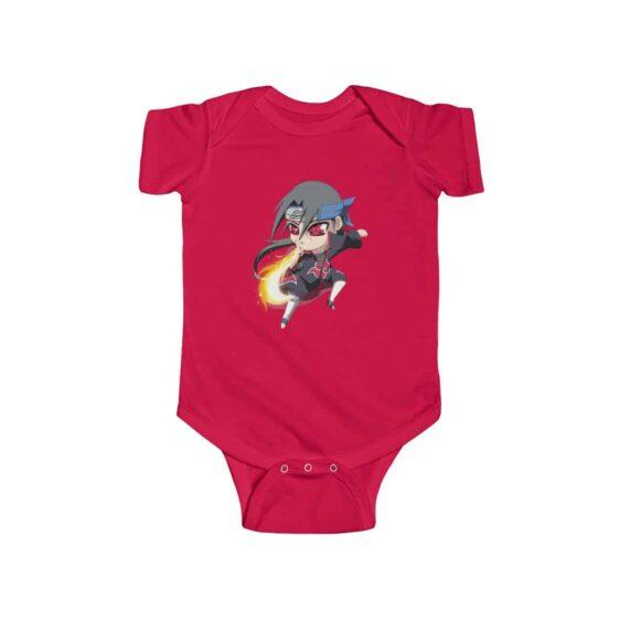 Itachi Uchiha Fireball Technique Cool Naruto Baby Onesie