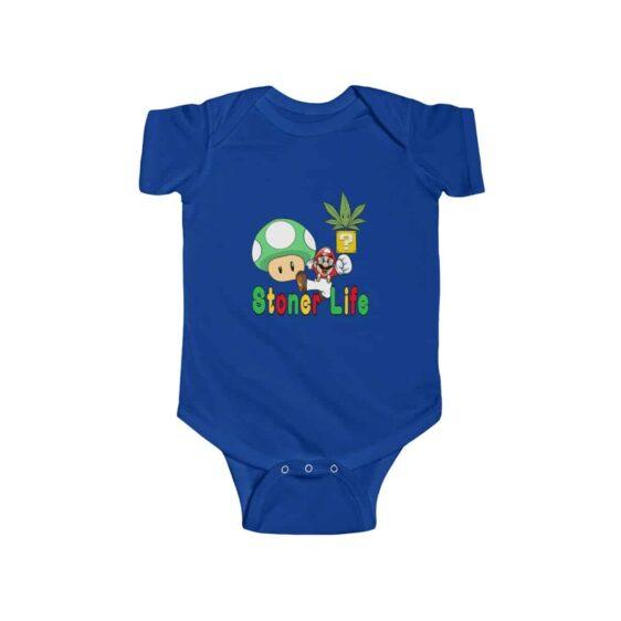 Super Mario Stoner Life Adorable 420 Marijuana Infant Romper