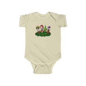 Weed Leaf & Magic Mushrooms Festival Cute 420 Infant Clothes