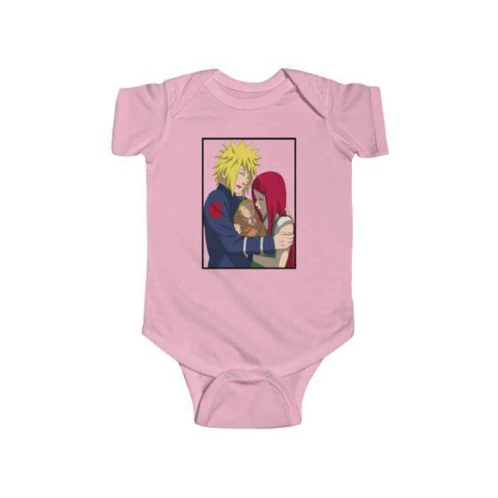 Minato Kushina and Naruto Happy Family Lovely Baby Onesie