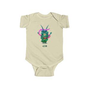 Stoned Plankton Covered In Marijuana Kush Newborn Bodysuit