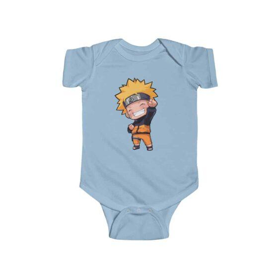 Cheerful Naruto Uzumaki Chibi Style Cute Infant Bodysuit