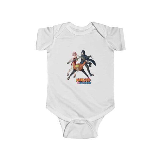 Naruto Sasuke and Sakura Team 7 Stylish Baby Onesie