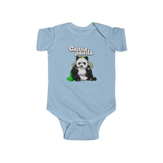 High Panda Smoking Cannabis Stylish Marijuana Infant Bodysuit