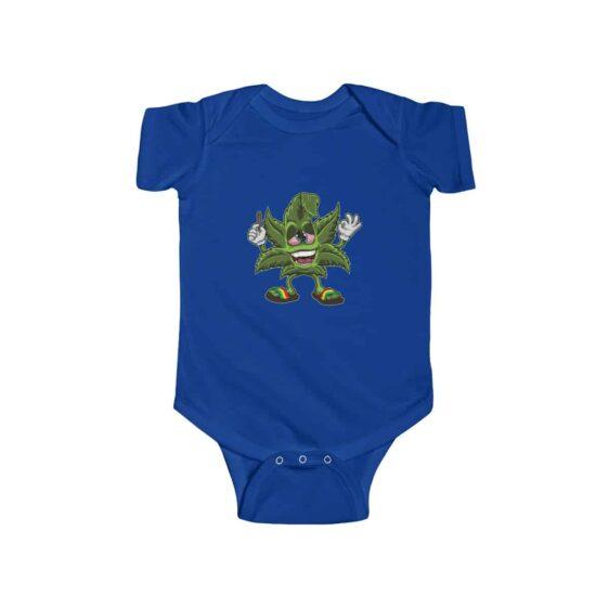 Stoned Cannabis Leaf Smoking Art Amazing 420 Infant Romper
