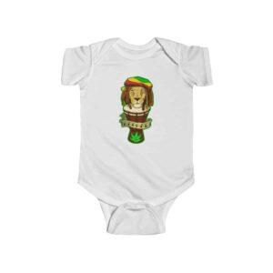 Reggae Lion and Bongo Drum Cool Ganja 420 Newborn Onesie