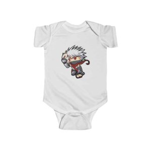 Anbu Kakashi Hatake Chibi Style Stunning Naruto Baby Bodysuit