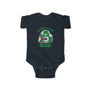 Don't Care Bear Smoking Weed Bong Hemp 420 Infant Onesie
