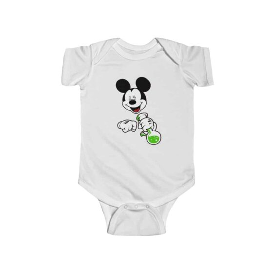 High Times Mickey Mouse Holding Bong 420 Newborn Clothes