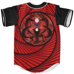 4 Tails Kyuubi Uzumaki Naruto Awesome Baseball Uniform Red