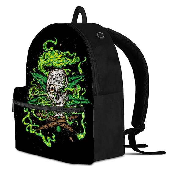 420 Skull Cannabis Weed Smoke Gnarly and Coolest Backpack