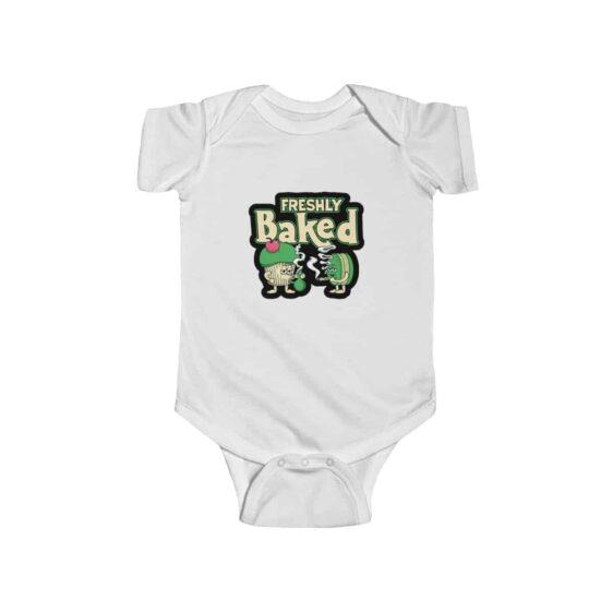 Freshly Baked Cake & Cookie Marijuana Art Cool Baby Onesie
