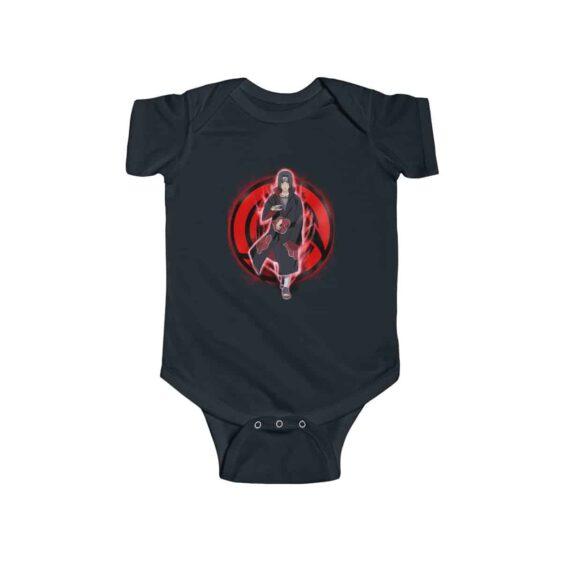 Badass Itachi Uchiha Mangekyou Sharingan Dope Baby Bodysuit