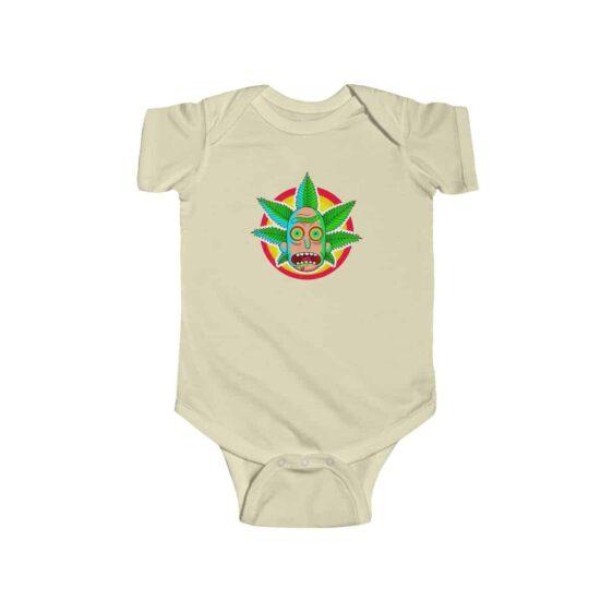 Blaze It Stoner Rick and Morty Weed Art Dope 420 Baby Romper