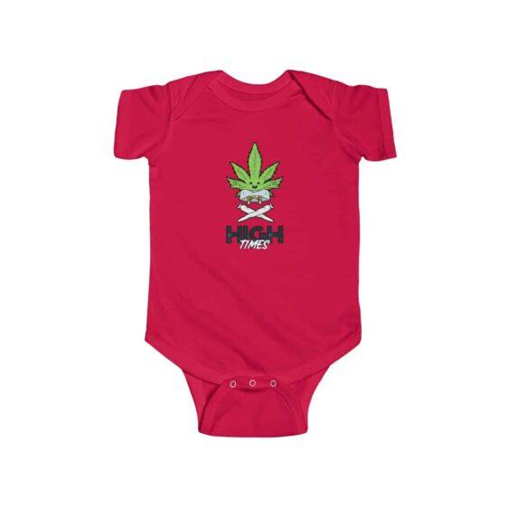 High Times Carefree Marijuana Leaf Art Lovely 420 Baby Onesie