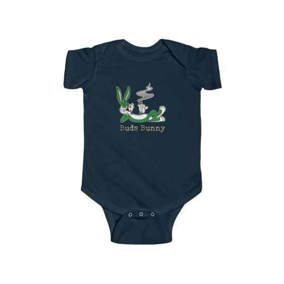 High Buds Bunny Enjoying Marijuana Blunt Dope 420 Baby Onesie
