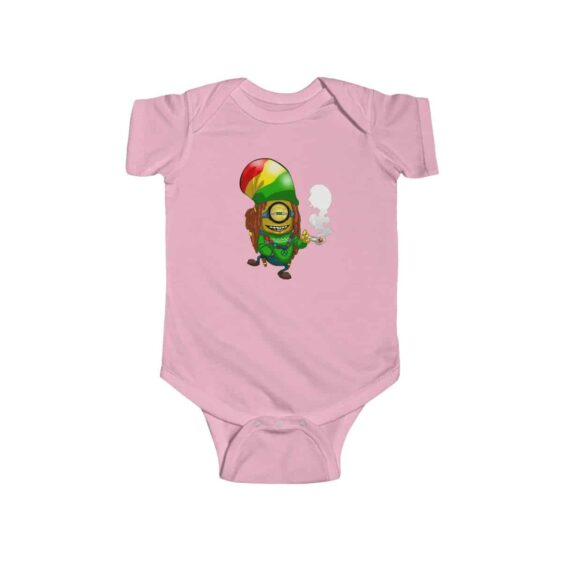 Rastaman Minion Smoking Cannabis Dope 420 Baby Clothes