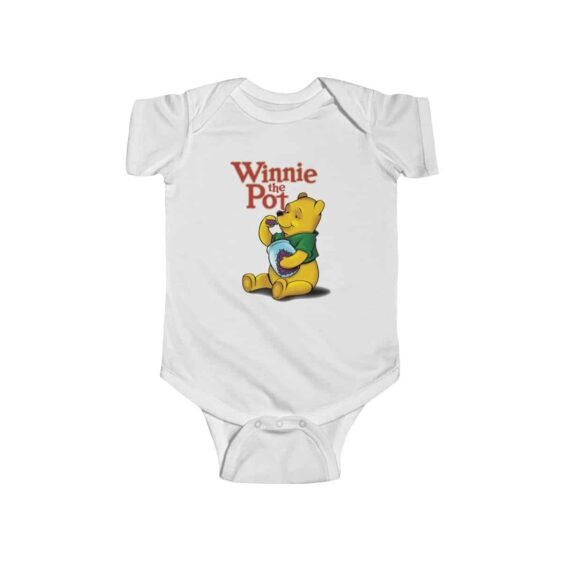 Winnie The Pothead Purple Indica Strain Marijuana Baby Clothes