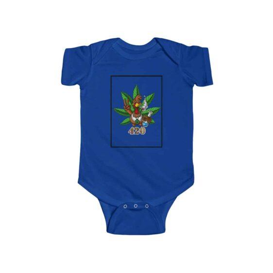 High Turkey Enjoying Marijuana Amazing 420 Weed Baby Onesie