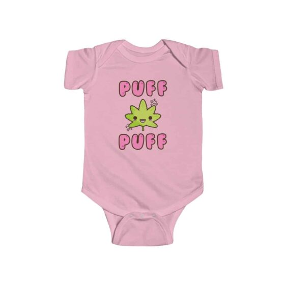 Puff Puff Cute Marijuana Leaf Adorable Newborn Bodysuit