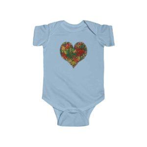 Colorful Heart Shaped Cannabis Marijuana Leaves Infant Romper