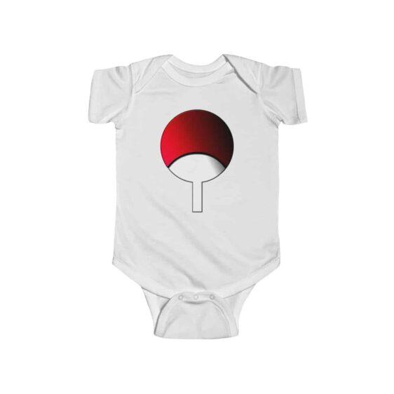 Uchiha Clan Fan Shaped Symbol Amazing Naruto Baby Onesie