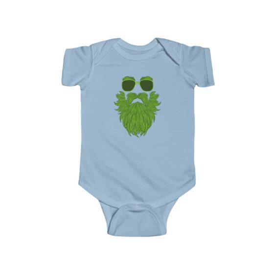Old Bearded Stoner Man Marijuana Leaves Art Newborn Onesie