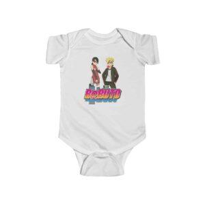 Boruto Uzumaki and Sarada Uchiha Cool Naruto Baby Bodysuit