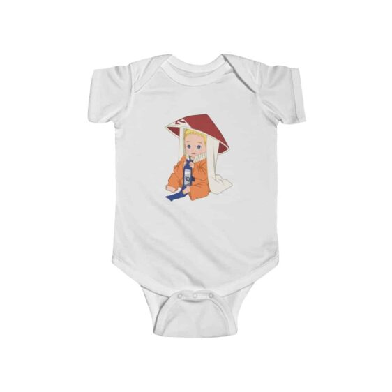 Baby Naruto Wearing Kage Hat Adorable Infant Bodysuit