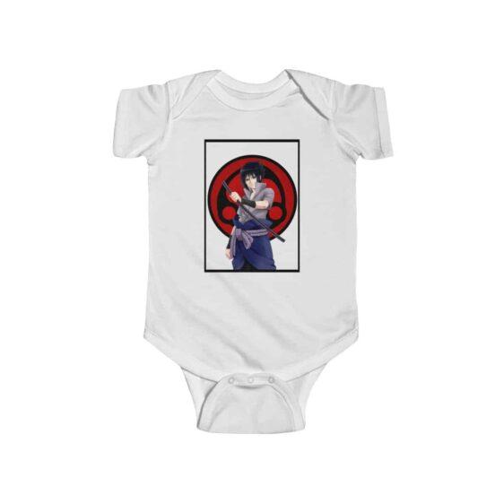 Badass Uchiha Sasuke Holding Katana Dope Baby Toddler Onesie