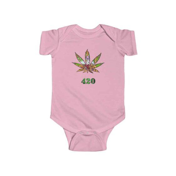 Old Stoner Man Inside Marijuana Leaf Cool 420 Newborn Clothes
