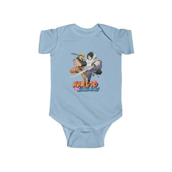 Naruto Uzumaki and Sasuke Uchiha Rival Friends Baby Bodysuit