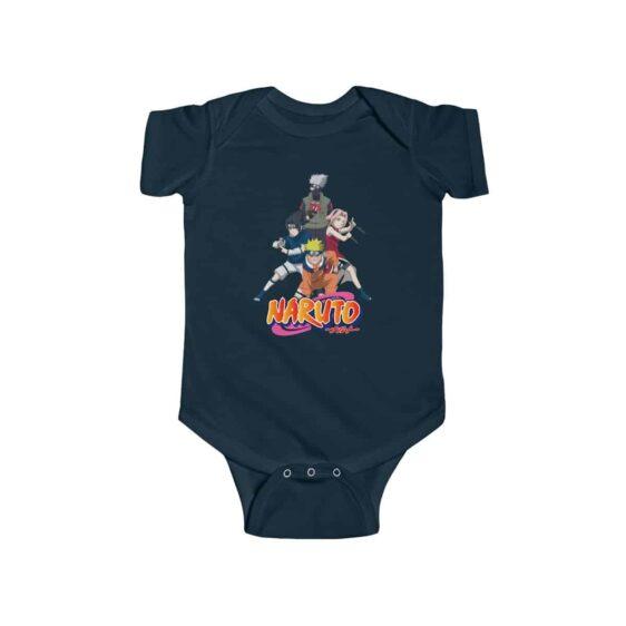 Naruto Shonen Jump Team 7 Assemble Awesome Infant Bodysuit