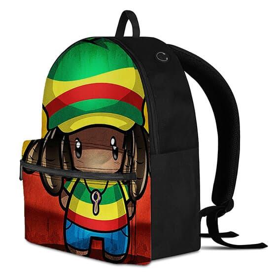 Adorable Jamaican Chibi Rasta Man 420 Cannabis Knapsack