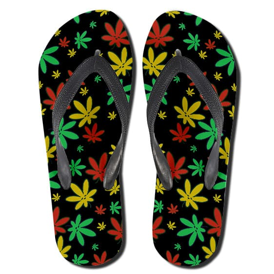 Adorable Rastafarian Colours Marijuana Pattern Slippers