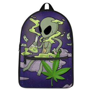 Alien Chillin with Cannabis Oil Cool and Awesome Backpack