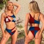 Android 21 Red Ribbon Army DBZ Red Blue Pretty Ring Swimsuit