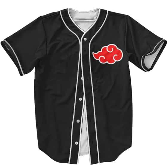 Awesome Akatsuki Logo with All Members Black Baseball Jersey