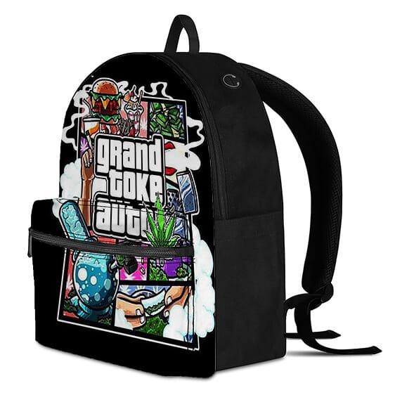 Awesome Grand Toke Auto Smoking Marijuana 420 Backpack