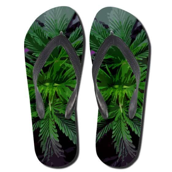 Awesome Marijuana Grass Art 420 Flip Flops Sandals