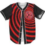Awesome Sharingan Tribute Dope Red Swirl MLB Baseball Uniform