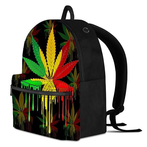 Rastafarian Colors Marijuana Weed Leaf Dope Backpack