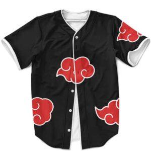 Amazing Akatsuki Clouds Uniform Cosplay Black Baseball Jersey
