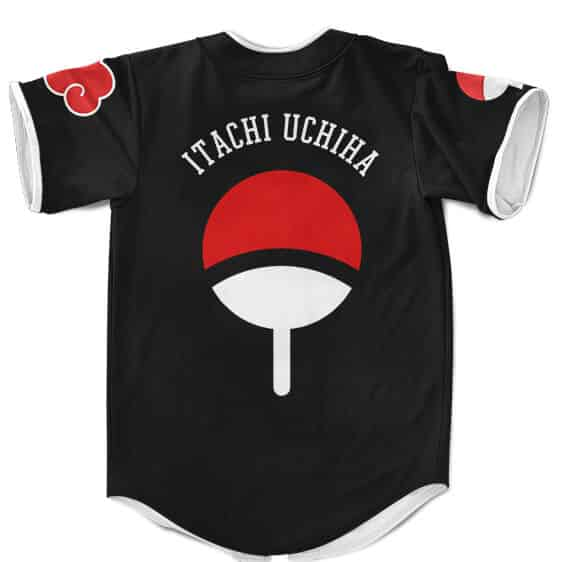 Rogue Ninja Itachi Uchiha Sharingan Cute Chibi Baseball Uniform