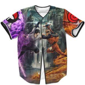 Uzumaki Naruto and Sasuke Uchiha Eternal Rivals MLB Baseball Shirt