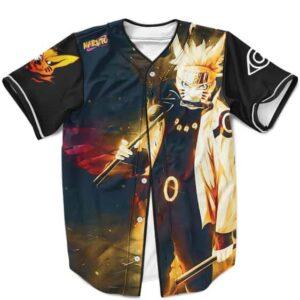 Fierce Naruto Uzumaki Sage of Six Paths Mode Black Baseball Jersey