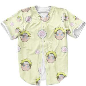 Adorable Naruto Uzumaki Chibi Pattern Yellow Baseball Jersey