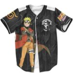 Naruto Uzumaki Sage Mode Esports Inspired Black Baseball Uniform